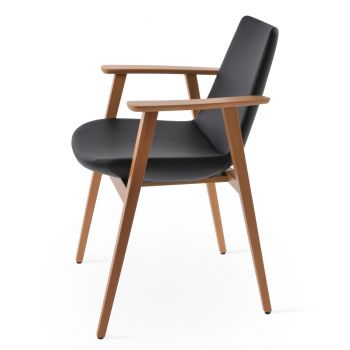 Eiffel Guest Chair with Armrest by sohoConcept
