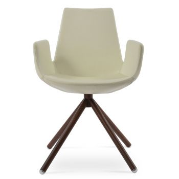 Eiffel Stick Swivel Armchair by sohoConcept