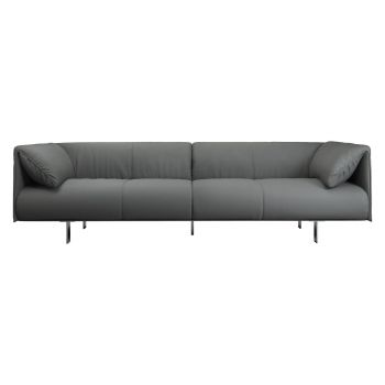 Essex Sofa - Warm Grey Leather