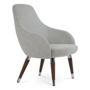 Gazel Lounge Wood Armchair by sohoConcept
