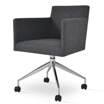 Harput Spider Swivel Armchair with Casters by sohoConcept