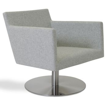 Harput Vogue Lounge Round Swivel Armchair by sohoConcept