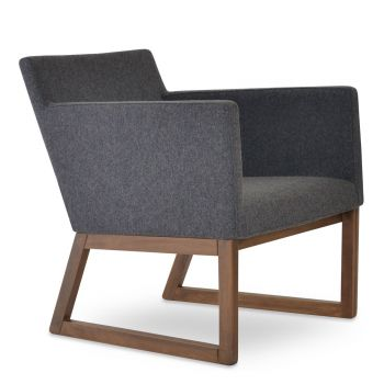 Harput Vogue Sled Wood Lounge Armchair by sohoConcept