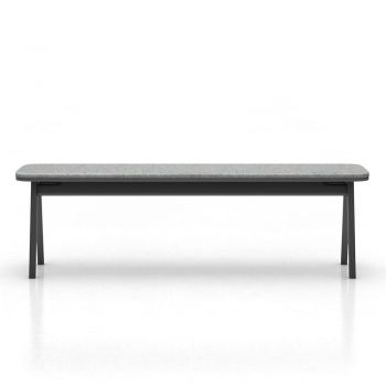 Haru Bench - Black Oak and Andorra Wool