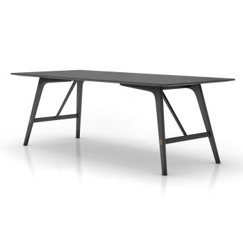Haru 87in. Dining Table - Black Oak