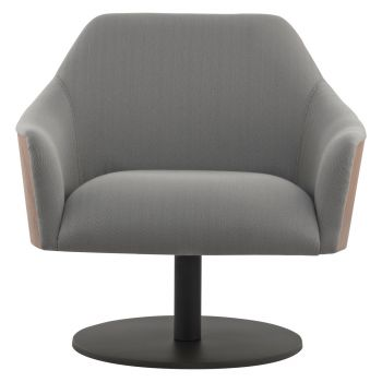 Henry Lounge Chair - Gray Herringbone Fabric