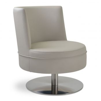 Hilton Round Swivel Lounge Armchair by sohoConcept
