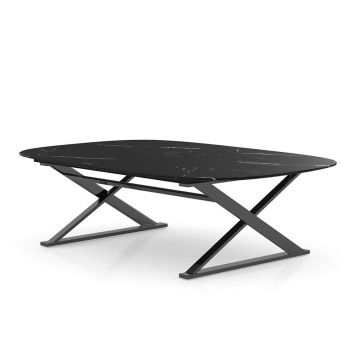 Irving Coffee Table - Matte Black Marble