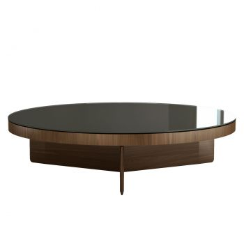 Longford Coffee Table - Bronze Glass on Walnut