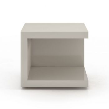 Ludlow Nightstand - Glossy Chateau Grey Lacquer