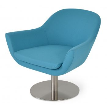 Madison Round Swivel Lounge Armchair by sohoConcept
