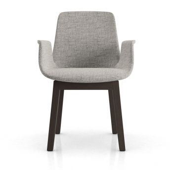 Mercer Dining Armchair - Gibraltar Fabric and Seared Ash Wood