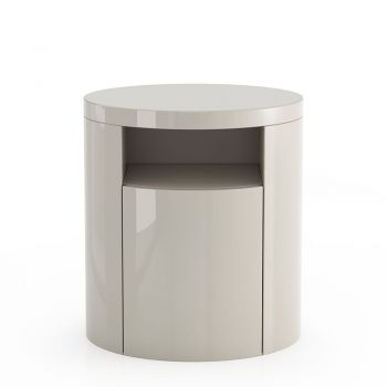 Mulberry Nightstand - Glossy Chateau Grey Lacquer