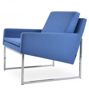 Nova Metal Sled Lounge Armchair by sohoConcept