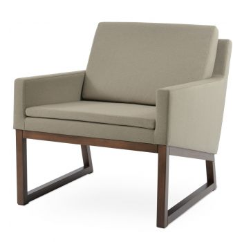 Nova Wood Sled Lounge Armchair by sohoConcept