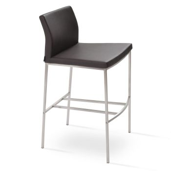 Pasha Metal Low Back Stool by sohoConcept
