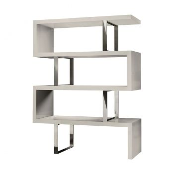 Pearl Bookcase - Glossy Chateau Grey Lacquer