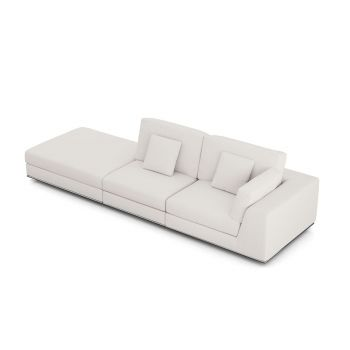 Perry Right Open Sofa - Chalk Fabric