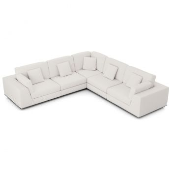 Perry Sectional 2 Arm Corner Sofa - Chalk Fabric