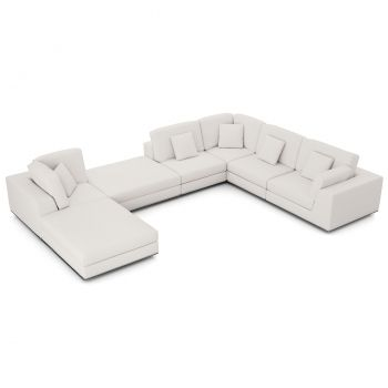 Perry Sectional 2 Corner Sofa - Chalk Fabric