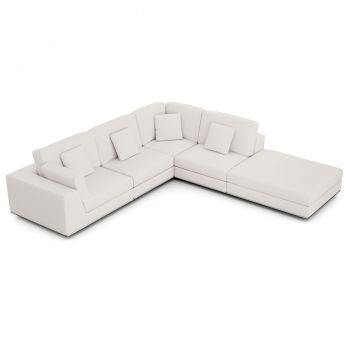 Perry Sectional Left 1 Arm Corner Open Sofa - Chalk Fabric