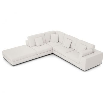 Perry Sectional Right 1 Arm Corner Open Sofa - Chalk Fabric