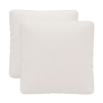 Perry Throw Pillow (Set of 2) - Chalk Fabric