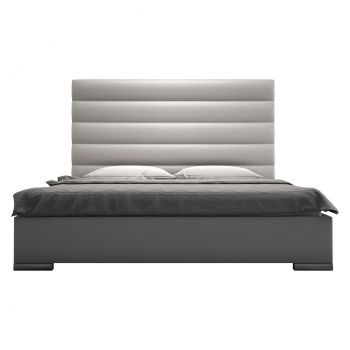 Prince Bed - Pearl Grey Eco Leather