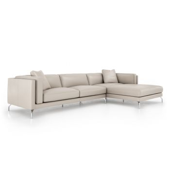 Reade Right Sectional Sofa - Opala Leather