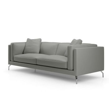 Reade Sofa - Warm Grey Leather