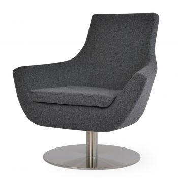 Rebecca Round Swivel Armchair by sohoConcept