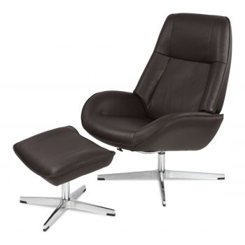 Roma Recliner Lounge Chair with Footrest by Kebe