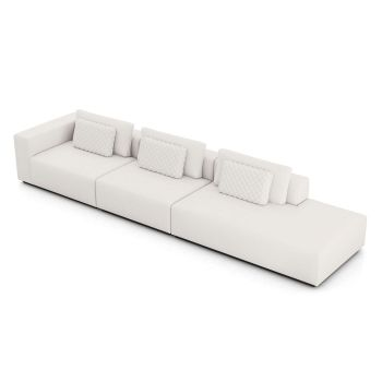 Spruce Right Sofa with End Unit XL - Chalk Fabric