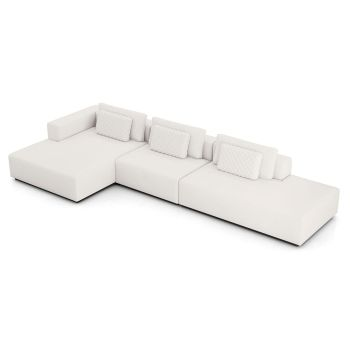 Spruce Sectional Left Chaise and End Unit XL - Chalk Fabric