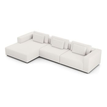 Spruce Sectional Left Sofa with Chaise - Chalk Fabric