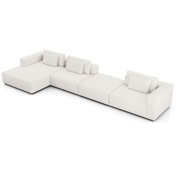 Spruce Sectional Sofa with Chaise XL - Chalk Fabric