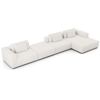 Spruce Sectional Right Sofa with Chaise XL - Chalk Fabric