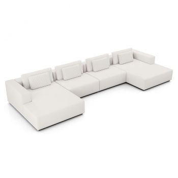 Spruce Sectional U Sofa - Chalk Fabric