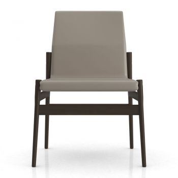 Stanton Dining Chair - Castle Gray Eco Leather, Frame in Seared Ash Wood