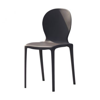 Vieste Outdoor Dining Chair - Matte Anthracite