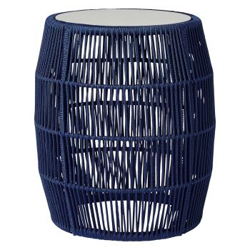 Volta Outdoor Accent Table - Blue Cord