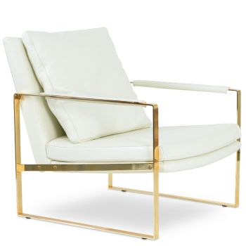 Zara Gold Lounge Armchair by sohoConcept